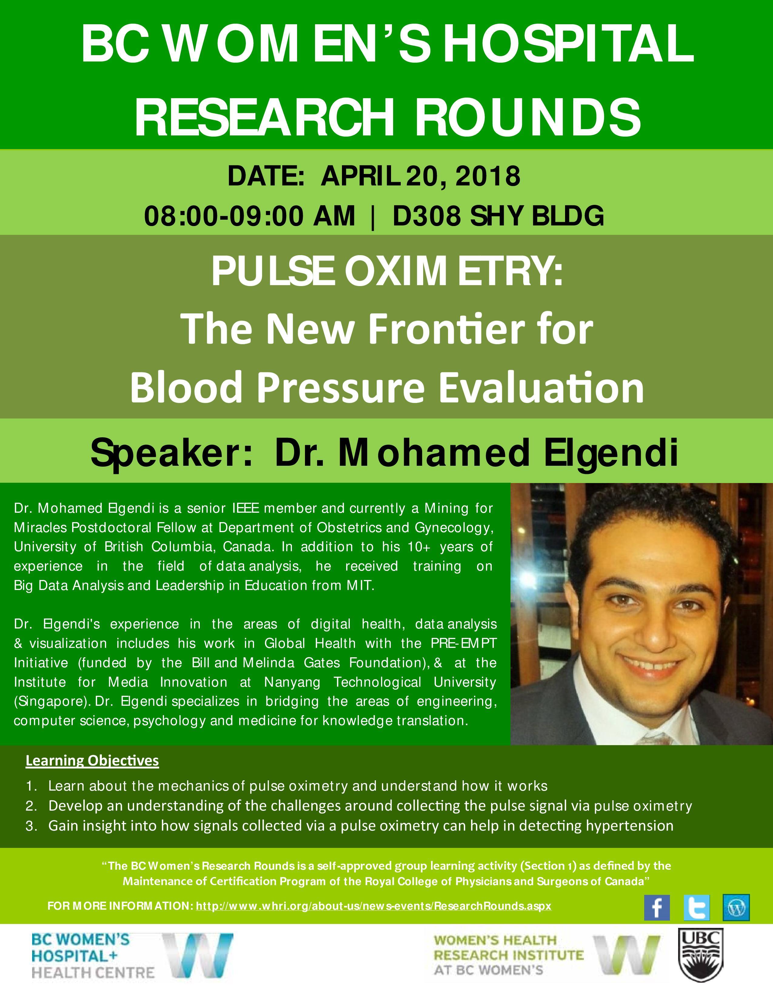April 20 Rounds Poster featuring Dr. Mohamed Elgendi