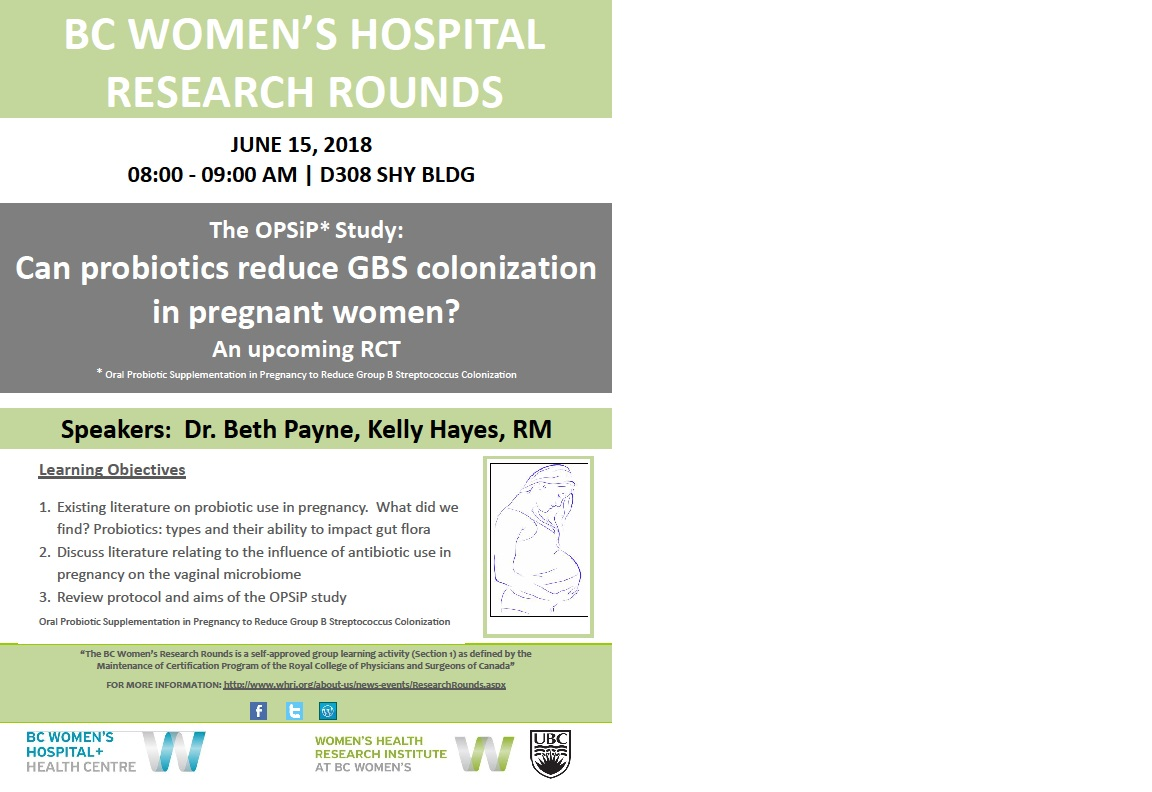 The OPSiP* Study: Can probiotics reduce GBS colonization in pregnant women? An upcoming RCT