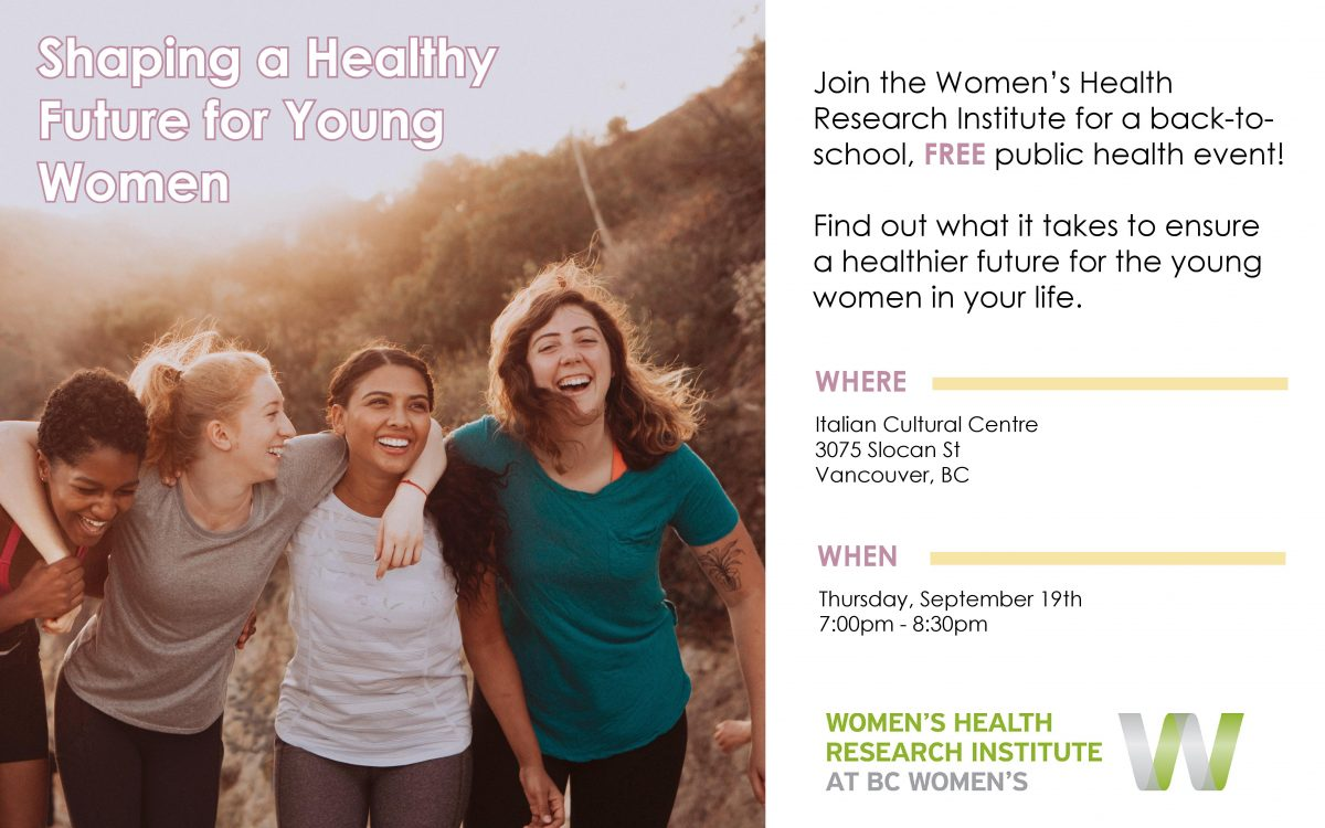 Public Event: Shaping a Healthy Future for Young Women
