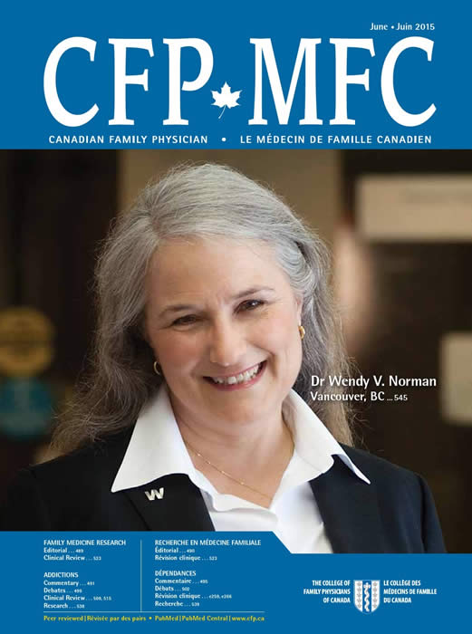 Dr. Wendy Norman featured in Canadian Family Physician