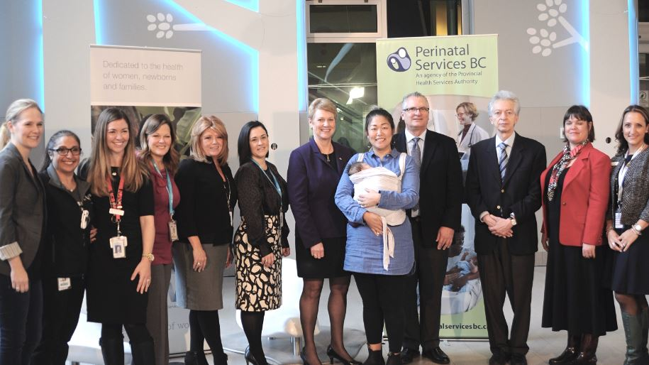 Attendees at the KMC event at BC Children's Hospital Teck Acute Centre
